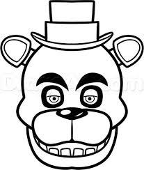 How To Draw Freddy Fazbear Easy Step 7 Party Ideas Kleurplaten