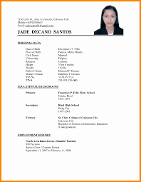 Applicant Resume Sample Resume Sample For Job Application In Philippines New Philippine 2