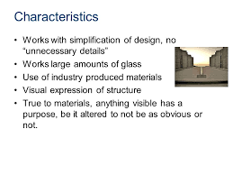 5 Characteristics ...