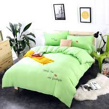 lime green bed sheets simple spring washed cotton princess wind embroidery bright green bedding sets duvet