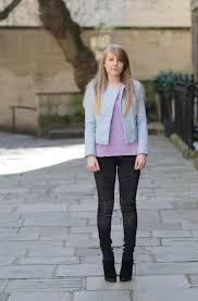 zara pastel blue leather jacket