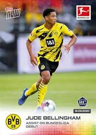 Jude bellingham is the up and rising english football player. 2020 21 Topps Now Bundesliga Jude Bellingham 1st Rc Rookie Card 4 Bvb Dortmund Toys Games Board Games Cards On Carousell