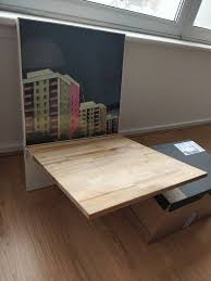 wall mounted drop leaf kitchen table similar to ikea norberg but in wood