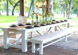 white patio dining table and chairs wood outdoor wooden
