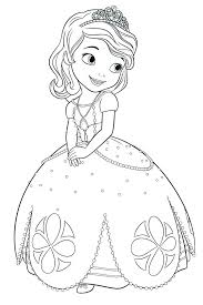 Sofia The First Once Upon A Princess Coloring Pages Bltidm