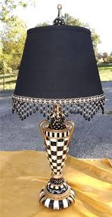 black and white nice beaded swag scalloped trim to redo lamp shade shades large with gold black square lamp shade