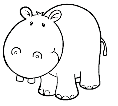 Hippo Coloring Sheet R7794 Hippo Coloring Page Cute Hippo Coloring