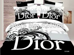 aliexpress luxury black and white brand name printed 100 intended for stylish house luxury black and white bedding sets prepare