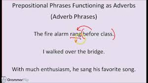 Nov 28, 2019 · action verbs. What Is An Adverb Prepositional Phrase Know It Info