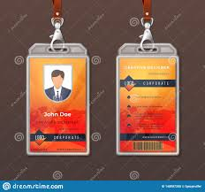 Free Office Layout Design Template Id Card Corporate Identity Employee Access Badge Design