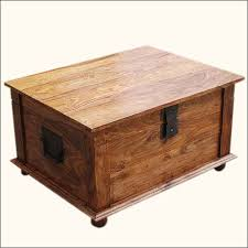 wooden chest coffee table useful inside and outside coffe table