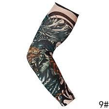Móda Punk Lebka Téma Falešné Tetování Rukávy Nylon Elastické Paže Dočasné Tetování Rukávy At Vova