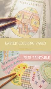 Let your kid color this adorable little creature and use it as a decoration or as a gift for. Free Printable Easter Coloring Pages Printable Activities And Games For Kids