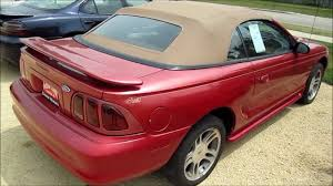 1997 FORD MUSTANG GT CONVERTIBLE start up, walk around and review ...
