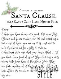 Christmas Eve Santa Letter Template Best From Ideas On With Free