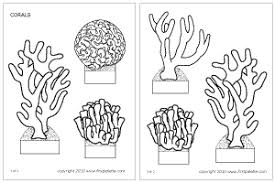 Corals Printable Templates Coloring Pages