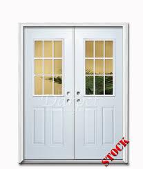 glass double door exterior. Incredible Exterior Double Doors Intended For 9 Lite Half Clear Glass Steel Door 6 8 Darpet Decorations 17