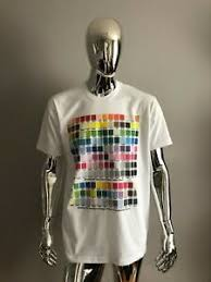 Details About New American Apparel Mens White Color Chart Graphic T Shirt Size Xl
