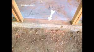 exterior door threshold install. problems with lumber in concrete foundations for easy door threshold installation - youtube exterior install m