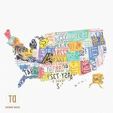 45 ideas of license plate map wall art within usa print random on license plate map wall art with 45 ideas of license plate map wall art within usa print random 2