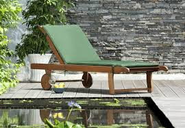 chichester fsc eucalyptus wood outdoor sunlounger with weather tex cushion