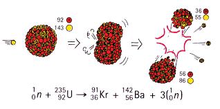 a typical uranium fission reaction