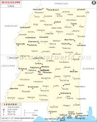 Cities In Mississippi Mississippi Cities Map