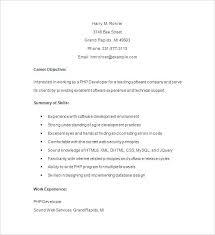 Magento Developer Resume Sample Junior Developer Resume Resume