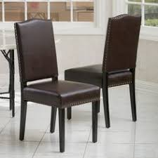 christopher knight home brunello brown leather dining chairs set of 2