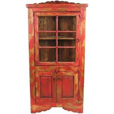 rustic charm furniture. Rustic Painted Mexican Furniture This Wood Corner Cabinet With Glass Will Enrich Any Old Southwest Charm P