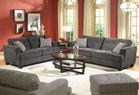 Living Room With Grey Sofa Living Room Red Wall Paint And Grey Sofas Color Combination Of