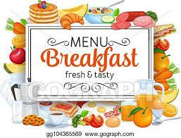 Image result for clip art for breakfast menu