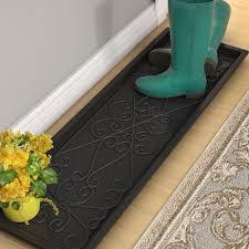 Decorative Boot Tray Impressive Fleur De Lis Living Lori Large Rubber Scrollwork Boot Tray Reviews