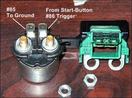 starter button not working honda shadow forums shadow one prong is directly wired to the start button and functions as the trigger that switches the relay on and the other is ground to complete the circuit