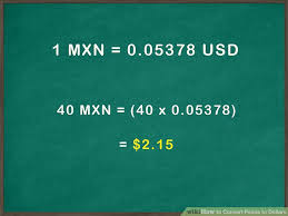 Money Conversion Chart Pesos To Dollars How To Convert Pesos To Dollars 10 Steps With Pictures