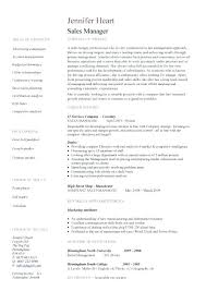 Resume Samples For Sales Manager General Manager Resume Sample Page