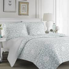 laura ashley mia reversible 3 piece cotton quilt set