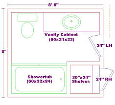 8x8 Bathroom Floor Plan