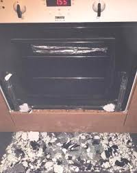 oven door glass shattered the shattered glass on the floor after the door exploded the mum oven door glass shattered