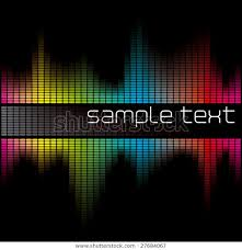 Colorful Digital Sound Wave Form Chart Stock Vector Royalty