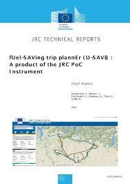 Tripplanner Com Fuel Saving Trip Planner U Save A Product Of The Jrc Poc