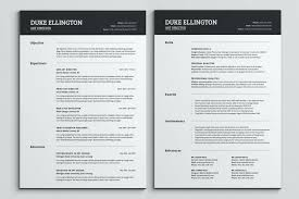 Wordpress Resume Template Two Pages Classic Resume Template One Page