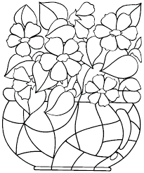 Pictures Of Flowers Coloring Pages Leoheathclub