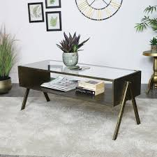 glass coffee table tv cabinet