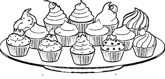 100% free sweet treats coloring pages. Plate Of Cupcakes Coloring Page Wecoloringpage Coloring Home
