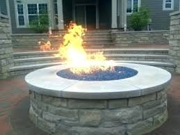 fire pit glass beads propane outdoor with gas table