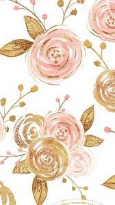 Gold and Pink Flowers Wallpapers - Top ...