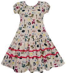 Details About Sunny Fashion Girls Dress Fox Squirrel Bird Mushroom Print Striped Size 7 14