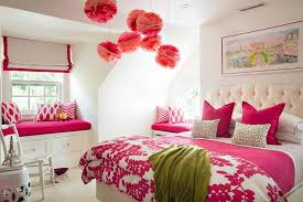 pink girls room with ceiling pom poms pin it on view full size