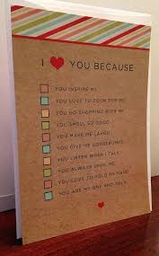 I Love You Because BoyfriendGirlfriend Or HusbandWife Quiz Card Best I Love You Because
